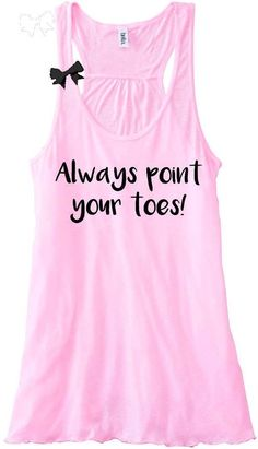 be58cc93a4 Always Point Your Toes - Pole Dancing - Dance Tank - Ruffles with Love -  Racerback