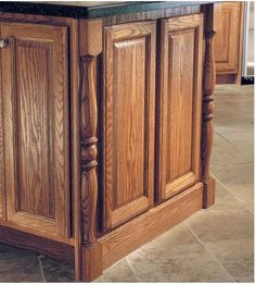 Beau By Placing A Split Spindle Leg At Each Corner Of An Island, The Cabinetry Is