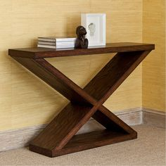 Wooden Pallet Furniture Ambella Home, Double-V Console Table, Consoles – Stephanie Cohen Home - Clean lined console crafted from solid mindi. Dimensions: - Overall: w x d x h - Cubic Feet: cu. Pallet Furniture Plans, Entry Furniture, Pallet Furniture Designs, Reclaimed Wood Furniture, Cool Furniture, Rustic Furniture, Luxury Furniture, Furniture Ideas, Sofa Ideas