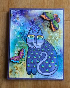 May 2017 – penguinpapers Laurel Burch, Altered Book Art, Cat Cards, Cat Colors, Blue Cats, Artist Trading Cards, Chalk Art, Elementary Art, Art Lessons