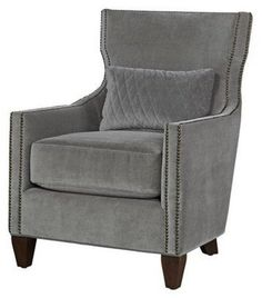 Barrister Accent Chair In green or rust