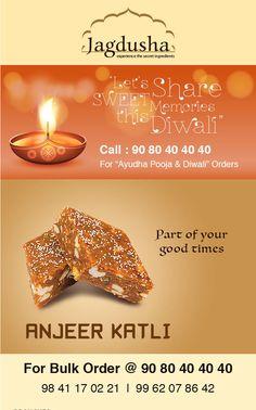 Enjoy the True taste of  Anjeer Katli with Jagdusha Sweets & Savories. . .It's time to taste. . .