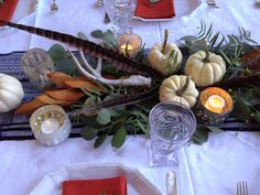 greige: interior design ideas and inspiration for the transitional home : Thanksgivnig centerpiece..