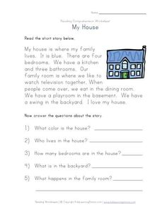 free print kindergarten comprehension worksheets | View and Print This Sequencing Reading Comprehension Worksheet