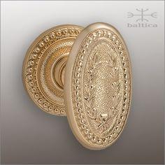 laureatas door knob polished bronze handcrafted by master artisans of baltica hardware in europe
