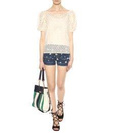 See by Chloé - Embroidered denim shorts - mytheresa.com
