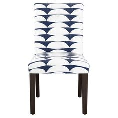 Hendrix Dining Chair - Halfmoon Navy (Blue) Ground - Cloth & Co.