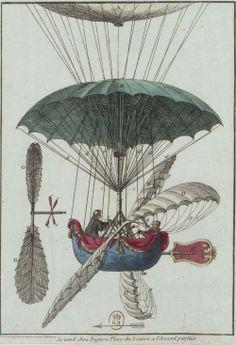 'Vue détaillée de la nacelle de l'aérostat' (1784)
