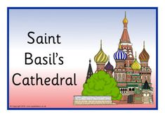 A set of posters featuring images of things associated with Russia. St Basils Cathedral, St Basil's, Free Teaching Resources, Free Printables, Russia, Preschool Activities, Travel Ideas, Posters, Free Printable