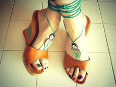 #Vintage #Rainbow #Wedges by Pippiripi on Etsy
