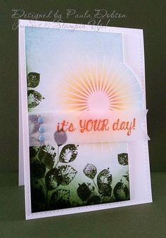 "By Paula Dobson from ""Stampinantics"", featuring Stampin' Up! ""Kinda Eclectic"" ..."