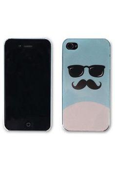 mustache sunglasses iphone case
