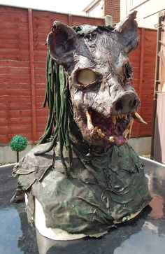 Pig Head Mask Prop by Twisted Endeavours