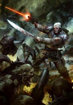 Imperial Guardsmen vs Orc