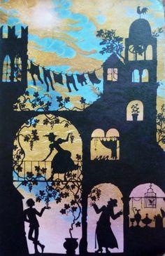 Silhouette artist, Jan Pienkowski - Kingdom Under the Sea Art And Illustration, Book Sculpture, Shadow Puppets, Art Plastique, Under The Sea, Paper Cutting, Art Lessons, Childrens Books, Illustrators