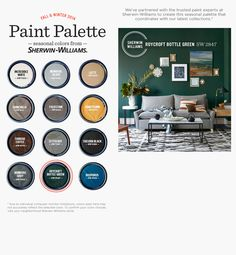 Seasonal paint colors from Sherwin Williams & West Elm. #Design #Paint #Decorate