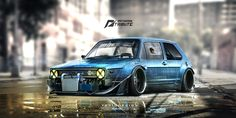 ArtStation - Speedhunters Golf MK1 - need for speed tribute , Yasid Oozeear
