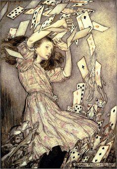 Arthur Rackham - Illustration from 'Alice's Adventures in Wonderland' by Lewis Carroll