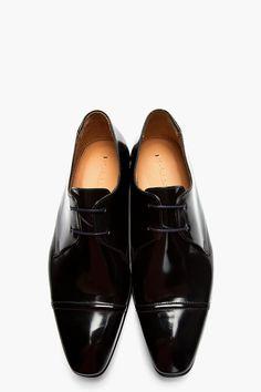 Black Wingtip Boots Men Images Leather S