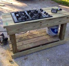 Fabriquer une cuisine d'été en palette                                                                                                                                                     Plus