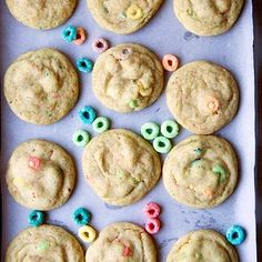 Get the recipe for Soft-Baked Froot Loops Sugar Cookies. Froot Loops, Cereal Recipes, Cookie Recipes, Dessert Recipes, Dessert Ideas, Most Popular Desserts, Just Desserts, Delicious Desserts, Soft Baked Cookies
