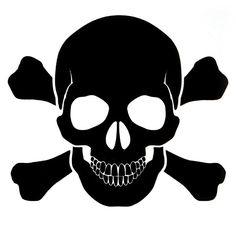 "OPSGEAR Black Skull and Bones Decal - 3"" x 3"""