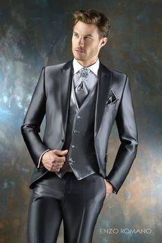 Enzo Romano to rr Gents Fashion, Mens Fashion Suits, Mens Suits, Mode Masculine, Tight Suit, Style Masculin, Revival Clothing, Designer Suits For Men, Cruise Outfits