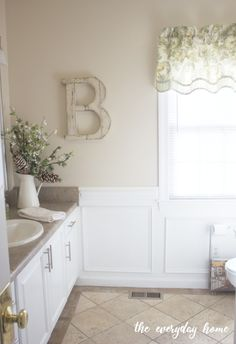 Guest Bathroom Mini Makeover Design Plan via The Everyday Home Benjamin Moore, Timeless Bathroom, Paint Colors For Home, Paint Colours, Wall Colors, Pinterest Home, Sherwin William Paint, Color Tile, Home Remodeling