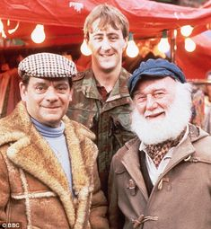 Only Fools And Horses. Del Boy (David Jason), Rodney (Nicholas Lyndhurst) and Uncle Albert (Buster Merryfield.)