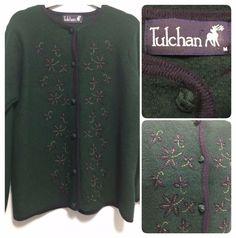Green Size Medium BNWT 100/% Wool Viyella Luxury Knitted Waistcoat