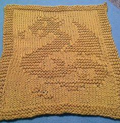Free knitting pattern for Dragon Dish Cloth