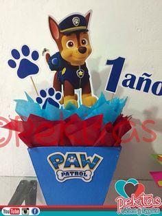 Paw Patrol Birthday Decorations, Paw Patrol Birthday Theme, Monster 1st Birthdays, First Birthdays, Happy Paw, Blue Birthday Parties, Baby Girl First Birthday, Minion Party, Ideas