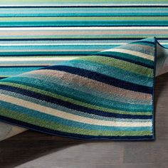 Shop Godric Teal Striped Area Rug - x - Overstock - 22403132 Teal Area Rug, Area Rugs, Glider Chair, Cool Tones, Online Home Decor Stores, Rug Store, Cool Rugs, Rugs Online, Aqua