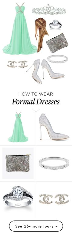 """Prom queen"" by dawnima on Polyvore featuring Casadei, Michael Kors, Chanel, Kate Marie, women's clothing, women, female, woman, misses and juniors"
