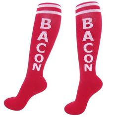 Show your friends you know what they care about by giving them a pair of premium BACON socks! Everyone wears socks, and everyone knows SOMEONE who LOVES bacon. Workout Attire, Workout Gear, Workout Style, Workouts, Bacon Socks, Cool Gifts, Unique Gifts, Rock Socks, Gifts For Your Sister