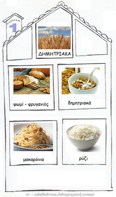 élelmiszer - Food and Drink Greek Language, Food Pyramid, Food Crafts, Eating Habits, Food And Drink, Healthy Eating, Fruit, Recipes, Speech Therapy