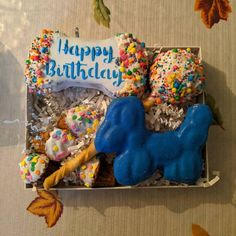 Organic Grain Free Happy Birthday Day Dog Treats Gift Box » Pampered Paw Gifts