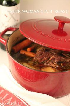 ...dutch oven PIONEER WOMANS POT ROAST Dinner http://www.foodnetwork.com/recipes/ree-drummond/perfect-pot-roast-recipe.html