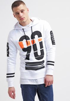 Jack & Jones JCOREEDLEY REGULAR FIT - Sudadera - white - Zalando.es