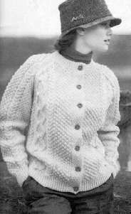 FREE PATTERN - Women's Irish Knit Cardigan