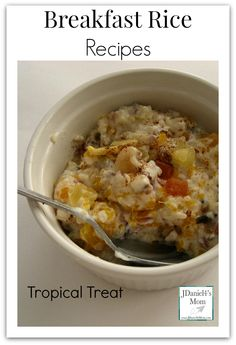Breakfast Rice Recipes- This warm tropical breakfast treat uses Minute® Rice Multi-Grain as its base. Yummy tropical ingredients are mixed in to create this delicious dish. My son loved it. AD