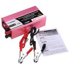 DC12V/24V to AC 220V 1200w Solar Power Inverter USB AMP Reverse Battery Protection