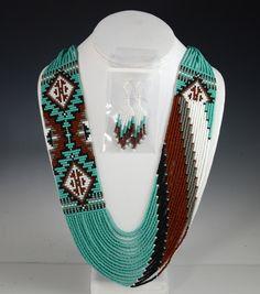 Navajo Beaded Necklace, Rena Charles, Sedona Indian jewelry, Sedona Native American, Oak Creek Canyon