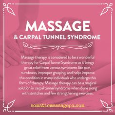 Massage & Carpal Tunnel Syndrome Massage & Carpal Tunnel Syndrome,Health and Wellness Tips Massage therapy for carpal tunnel is the most non-invasive, cost-efficient and effective long term treatment for Carpal Tunnel Syndrome. Massage Therapy Humor, Massage Therapy Rooms, Massage Room, Massage Images, Massage Pictures, Massage Quotes, Massage Meme, Message Therapy, Massage Marketing