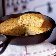 Cajun Craw-fish Corn Bread,Great with a meal,or just as a snack.