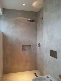 Marmorino Floor is a high quality seamless floor for walls and floors: . Bathroom Spa, Bathroom Toilets, Bathroom Interior, Modern Bathroom, Small Bathroom, Bad Inspiration, Bathroom Inspiration, Casa Loft, Wet Rooms