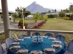 Mayon View (Tropical Garden) Apartelle Tropical Garden, Under Construction, Hotels And Resorts, Restaurant, Adventure, Table Decorations, City, Fun, Home Decor