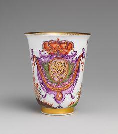 #Meissen  --  Beaker  --  Circa 1725  --  Metropolitan Museum of Art