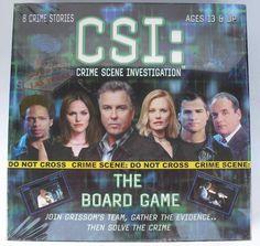 CSI TV Show - Crime Scene Investigation 2004 Vintage Board Game New SEALED!   #Specialty