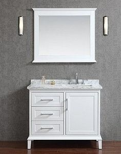 Pics Of Sunderland Single Bathroom Vanity Set with Mirror